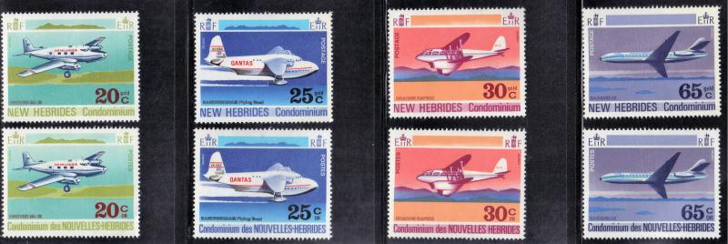 NEW HEBRIDES  BRITISH & FRENCH 1972 MN AIRPLANES SEE SCAN