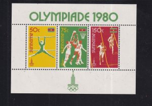 Surinam  #552-556a  MNH  1980  Sheet Olympic Games Moscow