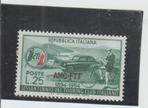 Trieste  Scott#  206  MH  (1954 Overprinted)