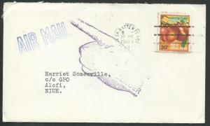 NIUE 1985 cover ex New Zealand Returned to Sender..........................64400