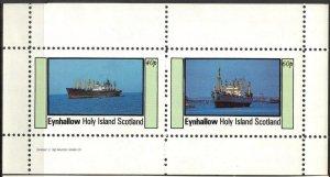 {E152} Eynhallow Scotland Ships Sh.2 MNH Cinderella !!