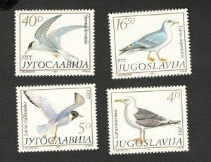 YUGOSLAVIA-MNH -SET-FAUNA - BIRDS-1984.