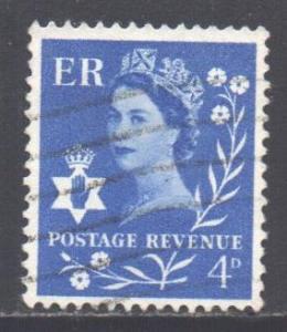 GB Regional N Ireland Scott 2 - SG NI2, 1958 4d Blue used
