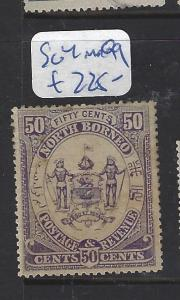 NORTH BORNEO (P2709B)  50C ARMS, LION SG 4    MOG