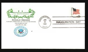 Reagan 1981 Inauguration Cover / White House Cachet - Z14504