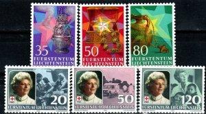 Liechtenstein #813-5, 820-2  MNH CV $4.60 (X9744)