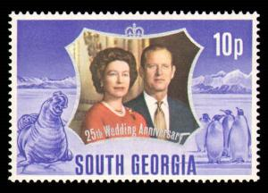 SOUTH GEORGIA #35-36 COMPLETE SET MINT NEVER HINGED