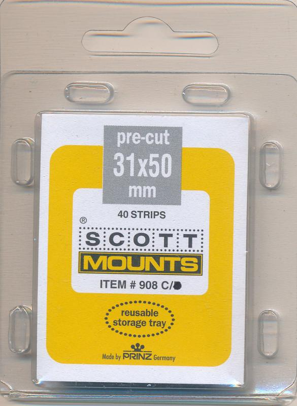 Prinz Scott Stamp Mounts Size 31 X 50 CLEAR Pack of 40