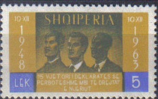 ALBANIA, 1963, MNH 5l. 15th Anniv of Declaration of Human Rights.