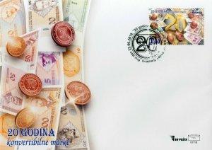 BOSNIA & HERZEGOVINA/2018, (FDC) 20 years of the convertible mark '18 MNH