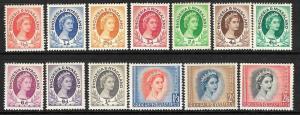 RHODESIA & NYASALAND 1954 QEII SET TO 2/6d MLH SG 1/12