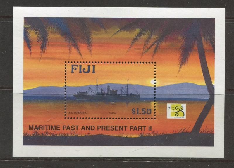Fiji - Scott 847 - Maritime Issue -1999 - MNH -Souvenir Sheet