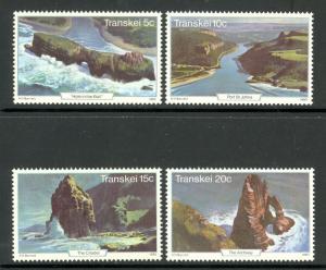 SOUTH AFRICA TRANSKEI 1980 TOURISM Set Scott No. 83-86 MNH