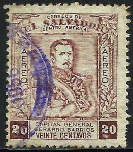El Salvador Air Mail 1955 Scott# C166 Used