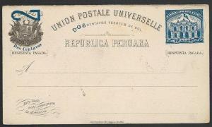 PERU 1897 2c postcard unused...............................................49485