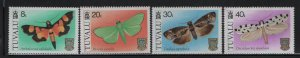 TUVALU, 138-141, (4) SET, MNH, 1980, BUTTERFLIES