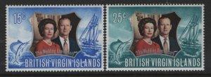 VIRGIN ISLANDS 241-242   MNH SILVER WEDDING SET 1972