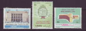 J24035 JLstamps 1961 lebanon set mh #c326-8 unesco