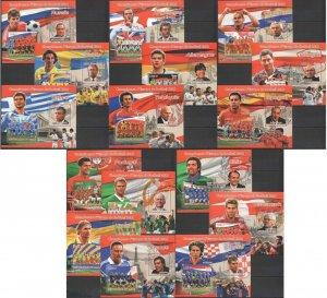 PE153-168 2012 Malí Deporte Fútbol Euro Cup 2012 Todo Equipos & Stars 16BL MNH