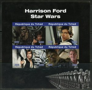 HARRISON FORD STAR WARS  IMPERF SHEET MINT NEVER HINGED