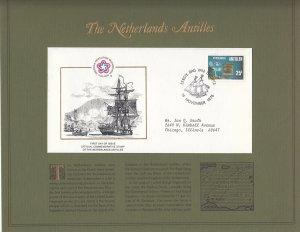 Netherlands Antilles, Sc 385, FDC, 1976, U.S. Bicentennial