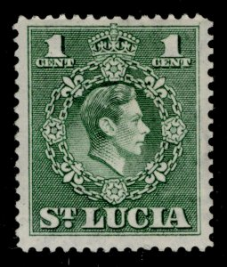 ST. LUCIA GVI SG146a, 1c green, NH MINT. PERF 14