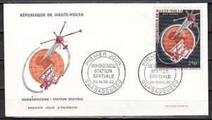 Burkina Faso, Scott cat. C29. FR-1. French satellite issue. First day cover. ^