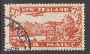 NEW ZEALAND 1931 7d airmail fine used - ACS cat NZ$30.......................M428