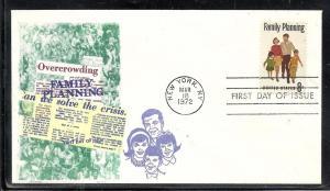 US #1455 Family Planning Overseas Mailer cachet U/A