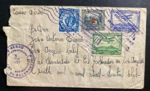 1934 El Salvador Airmail Cover To Salvadorian Consulate In Los Angeles CA USA