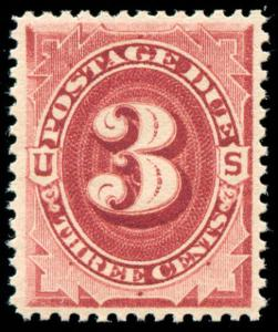 momen: US Stamps #J24 Dark Claret Mint OG NH VF/XF