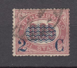 J27859 1878 italy used #38 ovpt