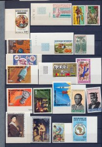 Africa Senegal Mali Dahomey Sport Space IMPERFS MNH (Appx 40 Stamps) (As 493