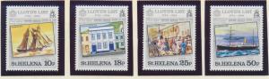 St. Helena Stamp Set Scott #412-5, Mint Never Hinged MNH, Lloyd's List - Free...