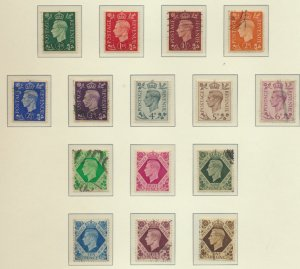 Great Britain Stamp Scott #235-48 And 266, Mint/Used, 1937-47 King George VI