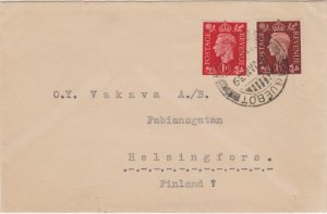 Aden Great Britain 1d and 1 1/2d KGVI 1939 Paquebot, Aden Hosking 2933 to Hel...