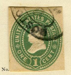 USA; 1899 early POSTAL STATIONARY PIECE fine used 1c. item.