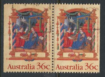 SG 1225  SC# 1159 Used  left / right (pair) margins imperf  - Christmas