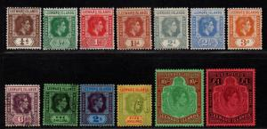 $Leeward Is. Sc#103-115b used+M/H/F-VF, complete set, Cv. $775