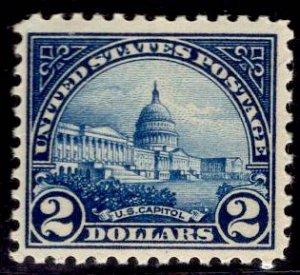 US Stamp #572 $2 Capitol MINT NH SCV $120