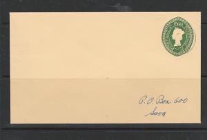 Fiji 1970 2c Postal stationery envelope Used CDS, addressed locally, Neat & Clea