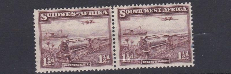 SOUTH WEST AFRICA  1937  S G  96  1 1/2D  PURPLE BROWN   MNH