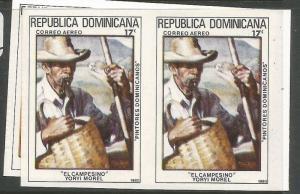 Dominican Republic Art SC C318-9 Imperf Pair MNH (4cwd)