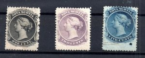 Nova Scotia 1860 mint and used collection Cat Val £61 WS15772