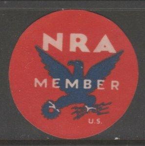 USA NRA -die cut  Cinderella revenue fiscal stamp- 7-21-
