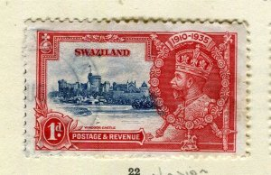 SWAZILAND; 1935 early GV Jubilee issue fine used 1d. value