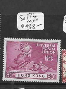 HONG KONG   (PP2706B)  KGVI  UPU 80C  SG 176   MNH