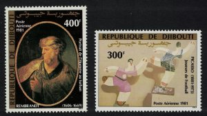 Djibouti Rembrandt Picasso Paintings 2v 1981 MNH SG#822-823 MI#311