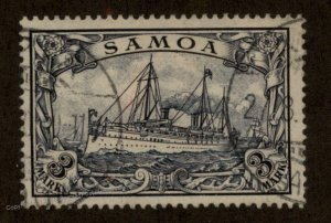 Germany Colonies Samoa Mi18 APIA Cancel 3 Mark 3M Hohenzollern Yacht Stamp 95200