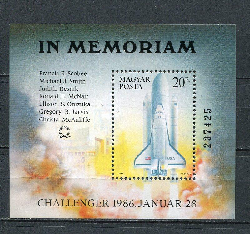 Hungary Sheet Memoria to US Astronauts who died US Chalenger  MNH 3706